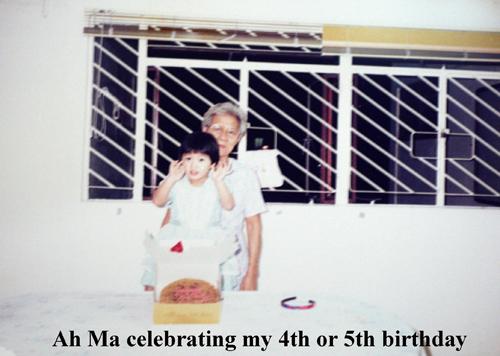 Grandma and me on my birthday