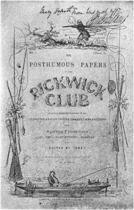 "The popularity of serial fiction during the Victorian era could be largely credited to the popularity of Charles Dickens the ""Pickwick Club"""