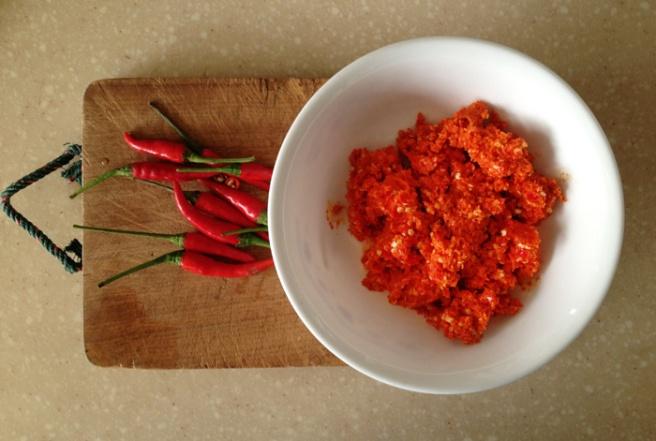 Chili padi and paste