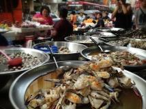 Dishes served at Bangkok's Chinatown