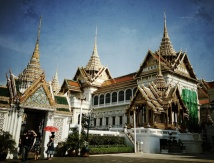 Part of the royal palace is seen in Bangkok